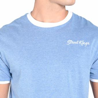 OXYGEN Ringer Tee with Embroidery (Navy Blue) - 5