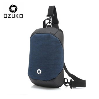OZUKO Unisex Chest Pack Messenger Bag Creative Anti-theft Bag Oxford Shoulder Bag Casual Fashion Crossbody Bags (Blue) - intl Price Philippines