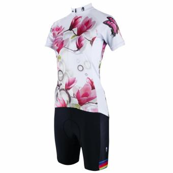 PALADIN SPORT Cycling Women's Long Sleeve Jersey and Pants Set (White) - Intl - picture 2