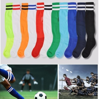 PAlight Sport Football Soccer Socks Above Knee Plain Long Socks (for Adult) - intl - 2