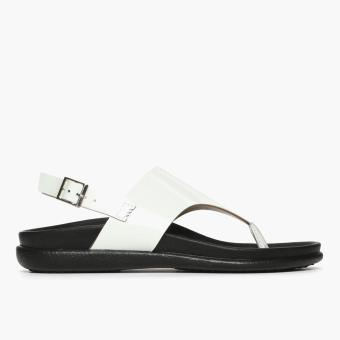 Parisian Ladies Akire Flat Sandals (White)