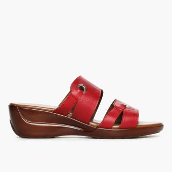 Parisian Ladies Chandry Wedge Sandals (Maroon)