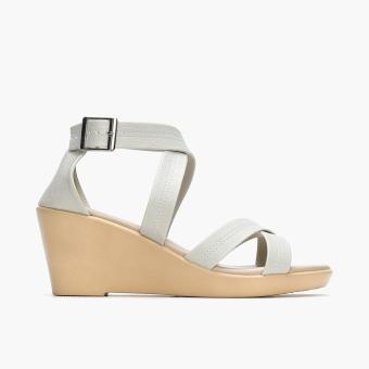 Parisian Ladies Vita Wedge Sandals (Bone)