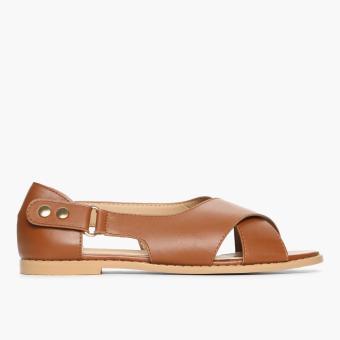 Parisian Ladies Wisa Flat Sandals (Tan)