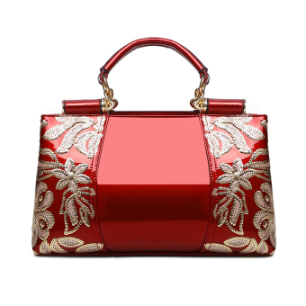 Patent leather female middle-aged mommy bag (Red)