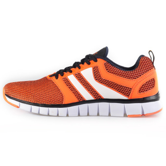 Peak and comfortable autumn and winter men's student damping running shoes (Flourescent orange/Black)