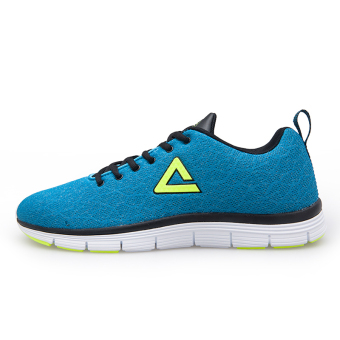 Peak autumn and winter New style student running shoes men's shoes (Ice blue/Black)