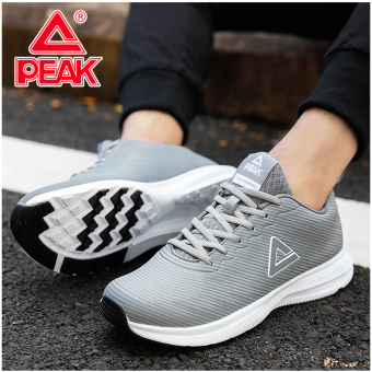 Peak autumn men's running shoes men's shoes (Light gray)