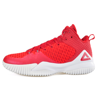 Peak breathable mesh men to help in autumn shoes basketball shoes (Bright red)