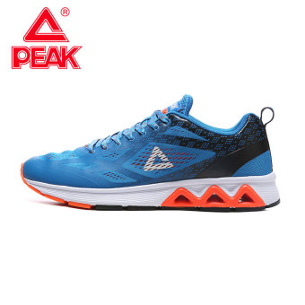 Peak lightweight breathable cushioning running shoes men's shoes (Crystal blue/Black)