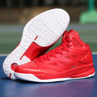 PEAK Mesh Damping Wearproof Basketball Shoes (Red/Large White)