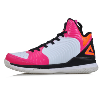 Peak spring and summer boots basketball shoes (Big white/rose)