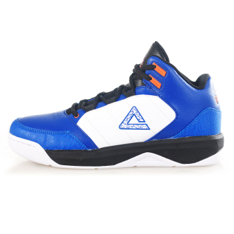 Peak to help in damping breathable non-slip boots basketball shoes (Color Blue/orange)