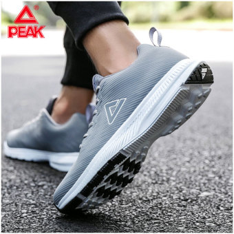 Peak winter New Style men's shoes running shoes (Light gray)