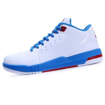 Peak winter student sports shoes basketball shoes (Big white/flash blue)