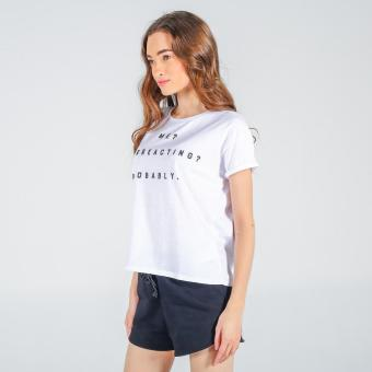 Penshoppe Boxy Tee With Graphic Print (White) - 2