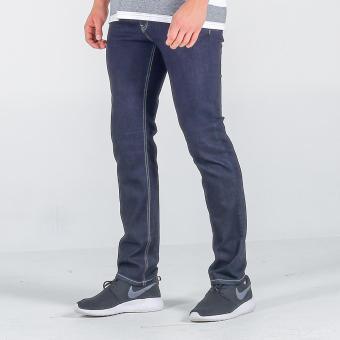 Penshoppe Raw Denim Slim Jeans (Blue) - 2