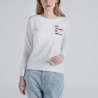Penshoppe Regular Fit Pullover With Patch (Off White)