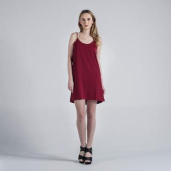 Penshoppe Regular Length Slip Dress (Dark Red)