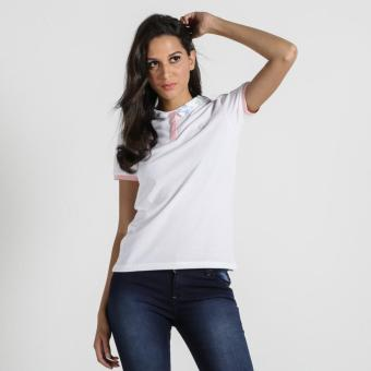 PENSHOPPE Semi Fit Polo Shirt With Graphic Print (White)