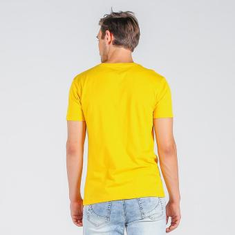 Penshoppe Semi Fit Tee With Graphic Print (Yellow) - 3