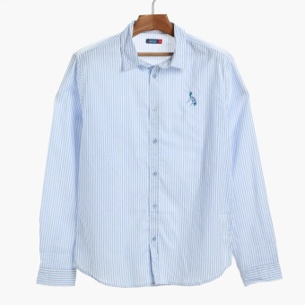 PH Basic By Kultura Mens Striped Casual Shirt (Light Blue) Price Philippines