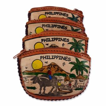 Philippines Souvenir Leather Coin Purse - Set of 4