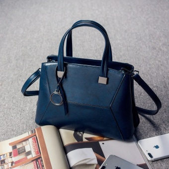 PHOEBE New Hot Selling COW Leather Fashion Women Tote Bag femaleCrossbody Shoulder Bag-blue - intl