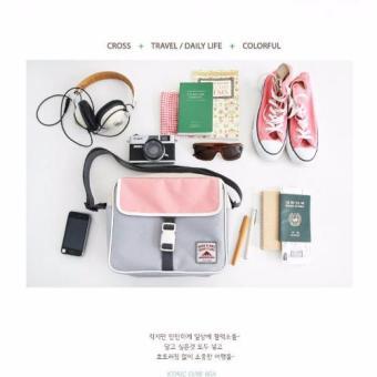 Pilot B-04 Korean Student Fashion Style Nylon MultifunctionalTravel Shoulder Bag Cross Body Bag Best Gift(Dark Grey/Orange) - 4