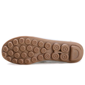 PINSV Women Fashion Flats Shoes Casual Loafers(Brown) - 2