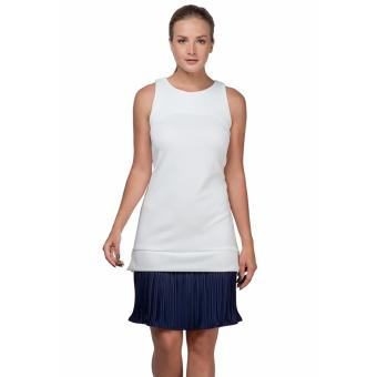 Plains and Prints Stamm Sleeveless Dress (Offwhite/Navy)