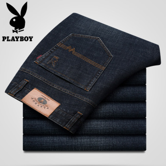 PLAYBOY Jianyue autumn new men Slim fit cowboy pants jeans