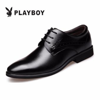 PLAYBOY New Style Men's Fashion Breathable Leather Formal BusinessPlay Boy Shoes(Black) - intl