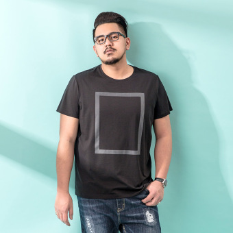 Plus-sized extra-large men's T-shirt (Black 72BT0148)