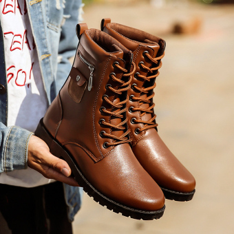 Plus velvet to help warm tooling boots (LX029 Brown)