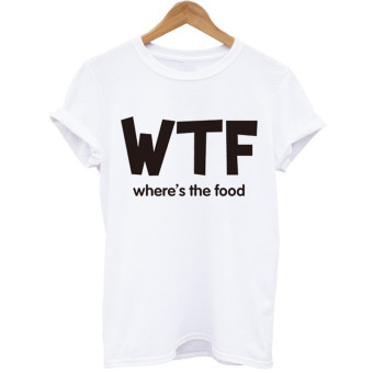 Popular brand in Europe and the white short sleeved lettered T-shirt