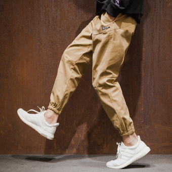 Popular brand Japanese-style skinny student versatile casual pants (Khaki)