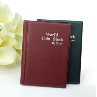Popular New Money Penny Pockets 120 Coin Holders Collection StorageAlbum Book color random by LuckyG - intl
