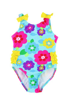 Pretty Flower One Piece Swimwear with UV Protection 50 Price Philippines