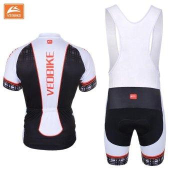 Pro Bicycle Wear MTB Short Sleeve Cycling Clothing CyclingSets(Black) - intl - 3