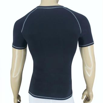 PROCARE COMBAT #8127 Compression Men T-Shirt (Black/Gray) forJogging Running Basketball and Gym - 2