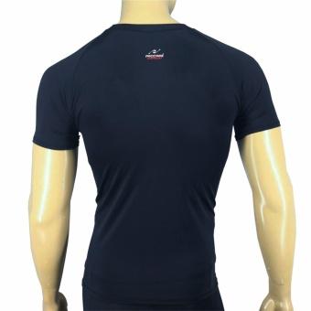 PROCARE COMBAT #8131B Dri-Quik Men Compression T-Shirt for RunningJogging Basketball (Black/Black Flatlock Seam) - 2