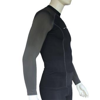 PROCARE MARINE #8362-BG Dri-Quik Men Rash Guard High Neck UPF30+Ultra Violet Skin Protection for Swimming Diving Snorkeling(Black/Gray) - 2