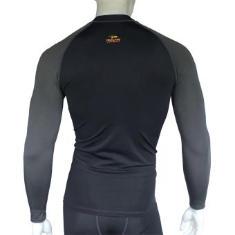 PROCARE MARINE #8362-BG Dri-Quik Men Rash Guard High Neck UPF30+Ultra Violet Skin Protection for Swimming Diving Snorkeling(Black/Gray) - 3
