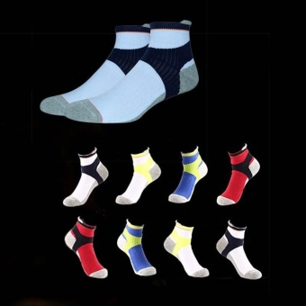 Professional Badminton Socks Short Tube Basketball Socks Towel bottom sports socks for Men - intl