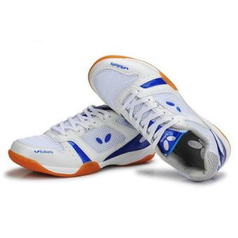 Professional Men Tennis Shoes Badminton Sneakers(Blue) intl - 2
