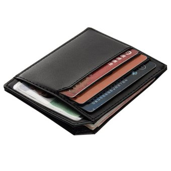 PU Leather Men Wallets Credit Card Holder Male Purses Men Bags(black) - intl