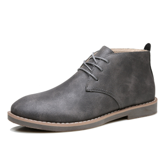 Qiudong British style men short boots Dr. Martens (Gray) Price Philippines