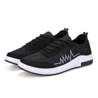 Qizhef Fashion Breathable Comfortable Running Shoes (Black) - intl
