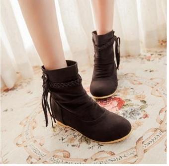 Qizhef ladies fashion tassels comfort boots(Dark Brown) - intl - 2